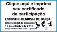 Banner certificado de dança
